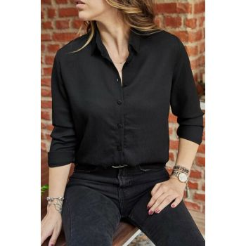 Women's Black Basic Shirt 9YXK2-41781-02