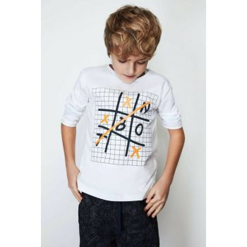 Boys' White T-Shirt 19FW0NB3522