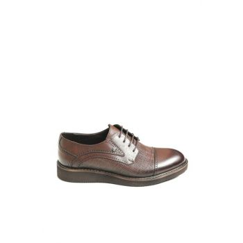 Genuine Leather Coffee Men Classic Shoes 118415K