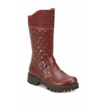 Maroon Girls Basic Boots 000000000100338654