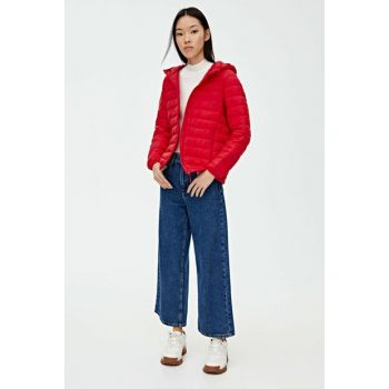 Women's Red Basic Inflatable Coat 09714333