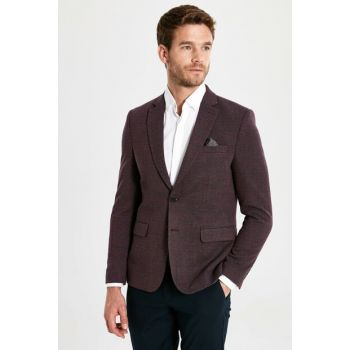 Men's Burgundy Jacket