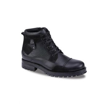 Genuine Leather Black Men Boots 190 20475M