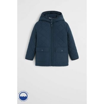 Navy Blue Boy Pocketed Quilted Jacket 53033700
