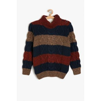 Coffee Boy Striped Sweater 9KKB96633OT