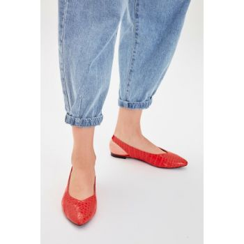 Orange Kroko Women's Flats TAKAW20BE0013