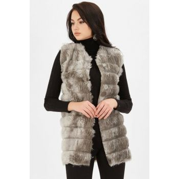 Women's Gnarled Plush Vest - Gray 250-9KB1001YLK