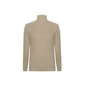 Men's Mink Turtleneck Sweater 338083