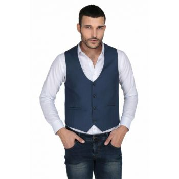 120'S Slim Fit Men's Vest - Parlement - 3W3M2936O166