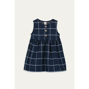 Baby Girl Blue Plaid Llc Dress 9WM989Z1