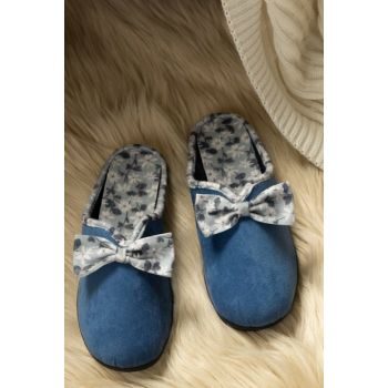 Marie Women's Bow Slipper - Indigo 1KTERL0326-8682116106627