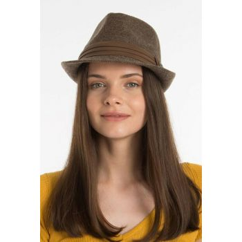 Trilby Women Hat Flecked Brown VG-17510-2