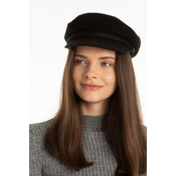 Women's Black Captain Hat 8315016