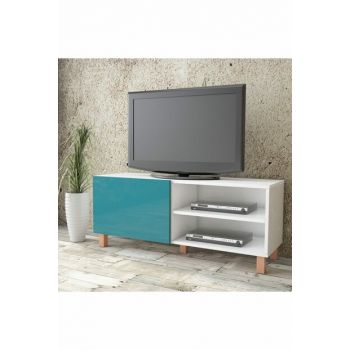 Aqua Tv Unit High Gloss 120cm 1 Cover Turquoise AU1-W1K-T 1286057