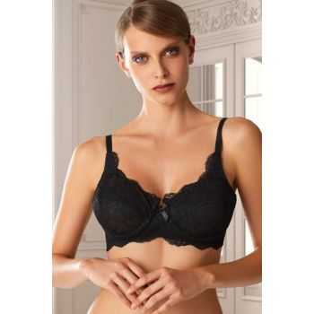 Women's Natalie Underwire Round-Out Black Bra 7023