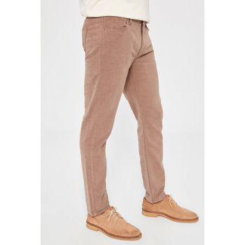Beige Men's 5 Pocket Slim Fit Trousers TMNAW20PL0076