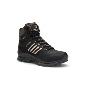 Black Khaki Unisex Outdoor Trekking Boots DS.1820