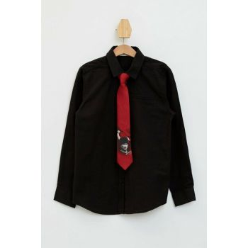 Men's Long-Sleeve Tie With A Shirt K9774A6.19AU.BK27