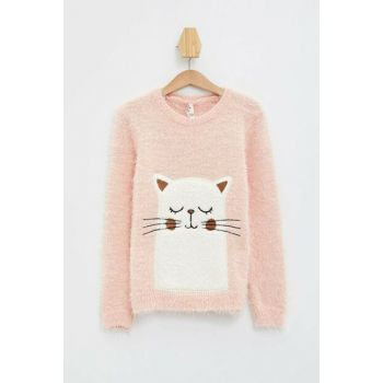 Pink Girl Children Printed Sweater Pullover K9576A6.19WN.PN125
