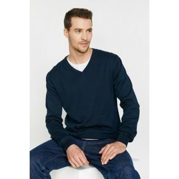 Men's Navy Blue Sweaters Bsc 0KAM92162LT