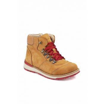 Yellow Boys Leather Boots 000000000100331405