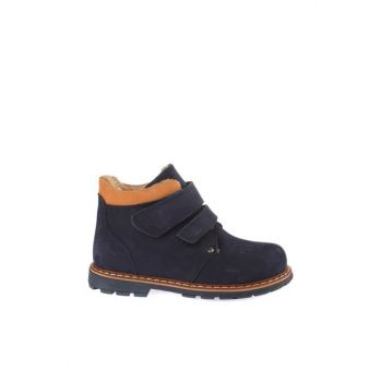 Navy Blue Genuine Leather Boys Boots FR-B-284> 19K