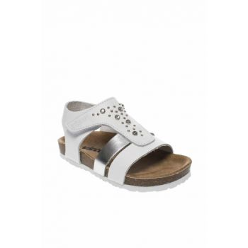 Genuine Leather White Girls Sandals 211 905.19Y77B
