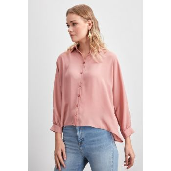Rose Dry Button Detailed Shirt TWOAW20GO0439