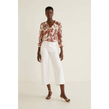Women's Relaxed White Relaxed Culotte Jean Pants 53000588
