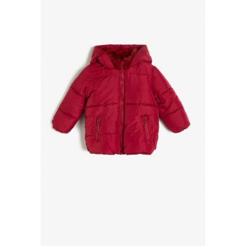 Baby Girl Artificial Fur Detailed Inflatables Coat 0KMG29146OW
