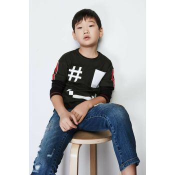 Boys' Khaki T-Shirt 19FW0NB3511 Click to enlarge