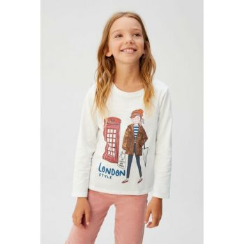 Off White Girl Children Sequin And Printed T-Shirt 57075932