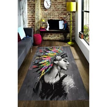 Hairy Native American Digital Printed Carpet RSP001547