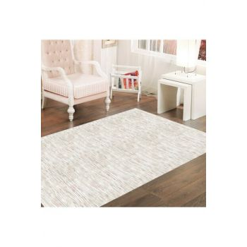 Abstract White Floor Patterned Digital Printed Carpet RSP000122