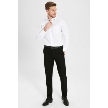 Men's Black Trousers 9WT242Z8