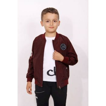 Boys' Sleeve Top With Embroidery Raincoat 9196-