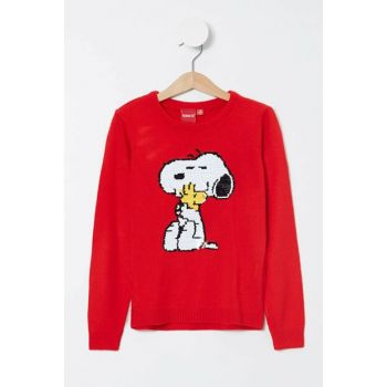 Red Girl's Snoopy Licensed Knitwear Sweater K9518A6.19AU.RD57