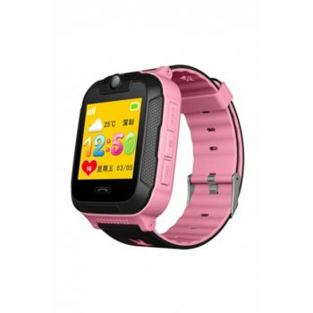 Eos TD-07S Gps Smart Watch (Child Tracking Clock) (Sim Card Dial) Pink Q90-4