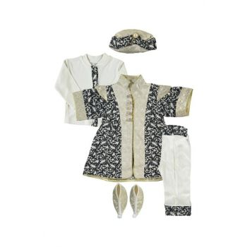 Baby Boy Mevlut Set Prince Series, Navy Blue-Gold PLA413