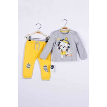 Baby Boy Sweatshirt Trousers Set of 2 14758 MINI14758