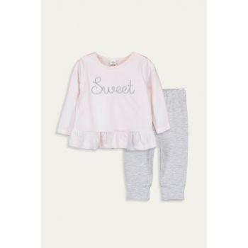 Baby Girl Pale Pink Mpe Suit 9W3555Z1