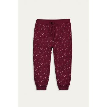 Baby Girl Burgundy Printed Lqv Pants 9WH305Z1