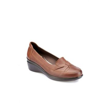Genuine Leather Taba Women's Shoes 000000000100331071