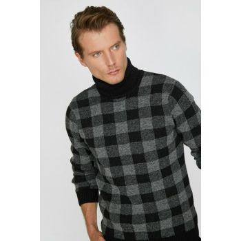 Men's Black Checked Sweater 0KAM91477GT