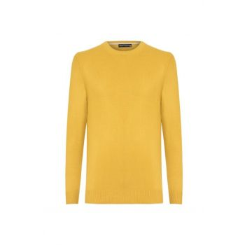Men's Mustard Crew Neck Sweater 339608