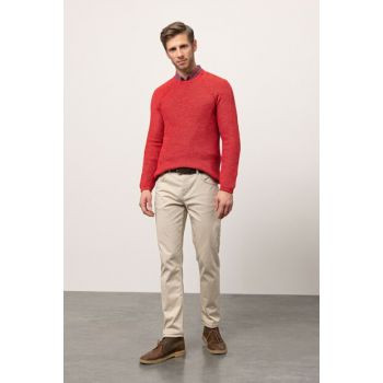 Men's Red Crew Neck Pullover 338085