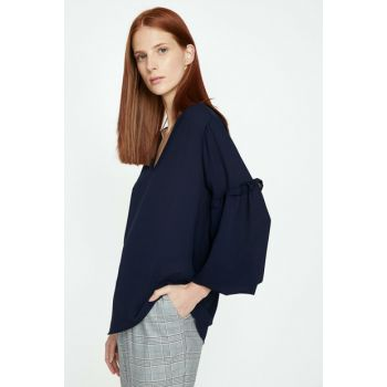 Women's Navy Blue Blouse 9KAK63844EW