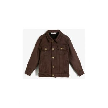 Coffee Children's Button Detail Coat 0KKB56161OW