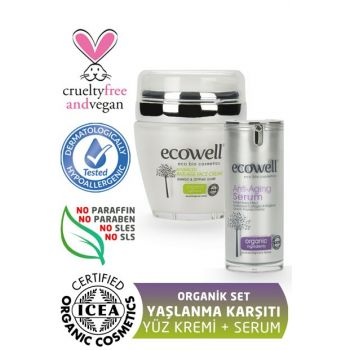 Organic Anti-Aging Set Face Cream + Serum 8680624092531
