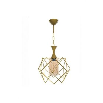 Sinem Chandelier Platinum Tumbled Single Chandelier 10730